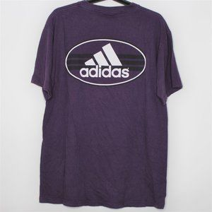 VTG Adidas Made In USA Spell Out T-Shirt M415